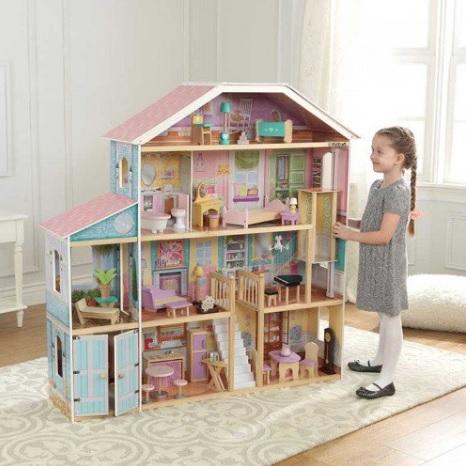 casa de muñecas mansion con vistas